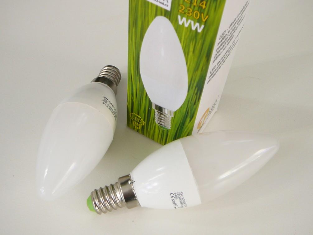 LED žárovka E14 3W svíčka