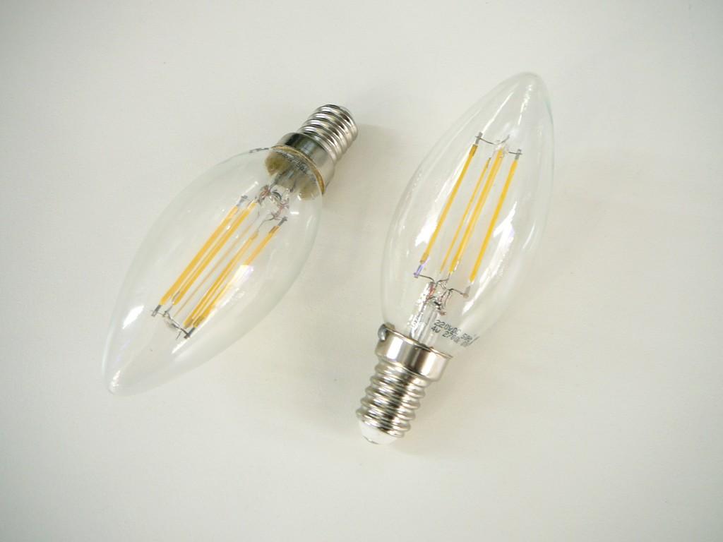 LED žárovka E14 filament 4w
